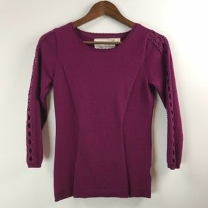 NWT Anthro I Angel of the North Plum Lace Sz M